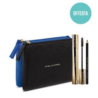 Super Offerta - Collistar Cofanetto mascara infinito nero + matita kajal  nera + doppia pochette piquadro 4eb2cc38d03